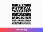 physical therapist svg download tshirt design