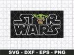 star wars logo baby yoda svg