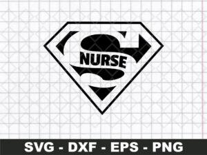 superman nurse svg