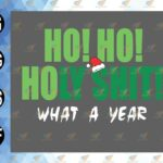 wtm 01 86 Vectorency Ho! Ho! Holy What a Year Christmas Funny, Christmas Funny, Christmas Party T-Shirt Funny Holy Shit