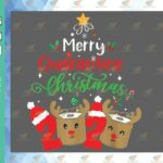 wtm 01 89 Vectorency Merry Christmas SVG, Merry Quarantine Christmas SVG, Christmas, SVG EPS PNG DXF