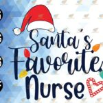 wtm 01 90 Vectorency Santa's Favorite Nurse Christmas SVG PNG EPS DXF, Funny Christmas Nurse SVG PNG