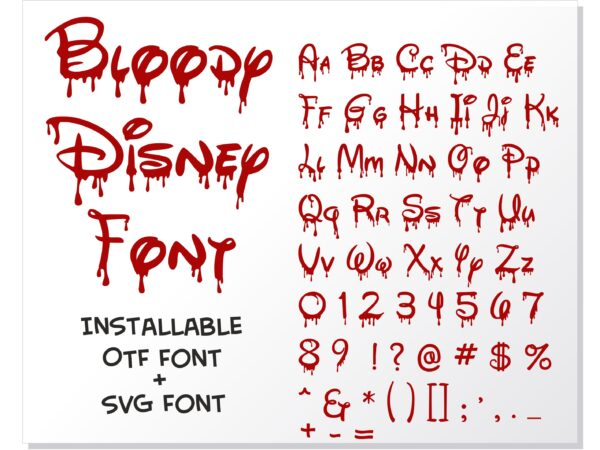 1 scaled Vectorency Halloween Bloody Dripping font otf, Halloween Dripping font svg, Halloween Bloody Dripping letters SVG file for cricut, Bloody Dripping font, Dripping font