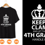 1 Vectorency Keep Calm And Let the 4th Handle It Svg, Trending Svg, Unique Gifts Svg, Download File Svg, Dxf, Png, Eps, Pdf