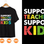 1 2 Vectorency Support Teacher support kids svg eps dxf png cutting files for silhouette cameo cricut, Teacher, Teaching, Back to School, Sublimation