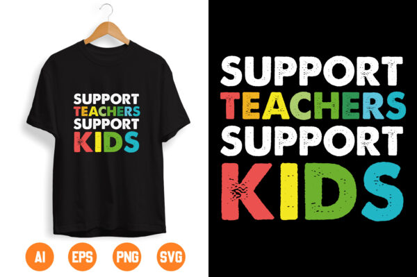 1 2 scaled Vectorency Support Teacher support kids svg eps dxf png cutting files for silhouette cameo cricut, Teacher, Teaching, Back to School, Sublimation