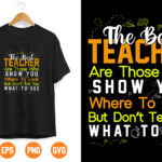 11 1 Vectorency Teacher SVG. The Best Teachers are Those Who Show Where To Look SVG for Rustic Sign and Modern Farmhouse Decoration.