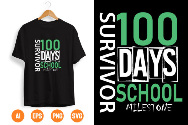 11 scaled Vectorency 100th day of school svg, 100 days svg, Survived 100 days svg, svg, DXF, EPS, 100 days of school, svg, hundredth day, I'm a Survivor, survive