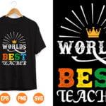 2 2 Vectorency World's Best Teacher svg - World's Best Teacher Cut File - Teacher svg - Teacher Appreciation svg - Teacher Gift svg - Teacher Life svg