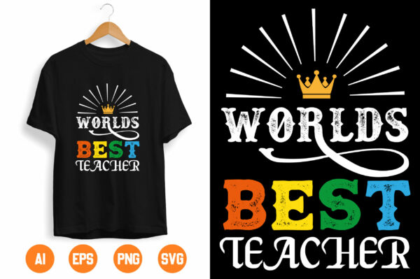 2 2 scaled Vectorency World's Best Teacher svg - World's Best Teacher Cut File - Teacher svg - Teacher Appreciation svg - Teacher Gift svg - Teacher Life svg