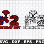 2nd Birthday SVG Birthday Boy SVG, Spiderman Birthday SVG