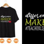 30 Vectorency Difference Maker Svg, Teacher Svg, Teacher Life Svg, Dedicated Teacher Svg, Quarantine, Funny School Svg Files for Cricut & Silhouette, Png