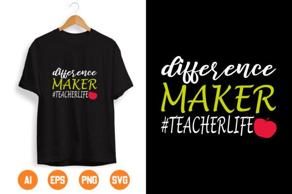 30 scaled Vectorency Difference Maker Svg, Teacher Svg, Teacher Life Svg, Dedicated Teacher Svg, Quarantine, Funny School Svg Files for Cricut & Silhouette, Png