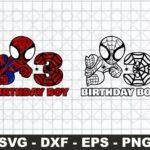 3rd Birthday SVG Birthday Boy SVG, Spiderman Birthday SVG