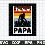 40th Bigfoot Papa Birthday Vintage Dad 1980 SVG