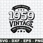 50th Birthday Svg, Aged To Perfection Svg, Vintage SVG