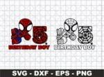5th Birthday SVG, Happy Birthday Spiderman SVG, Birthday Boy SVG