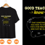7 Vectorency Good Teachers Know That Sometimes you have to Stop SVG Digital Download, SVG Cut File - Funny Teaching Defined Svg, Teacher Gift