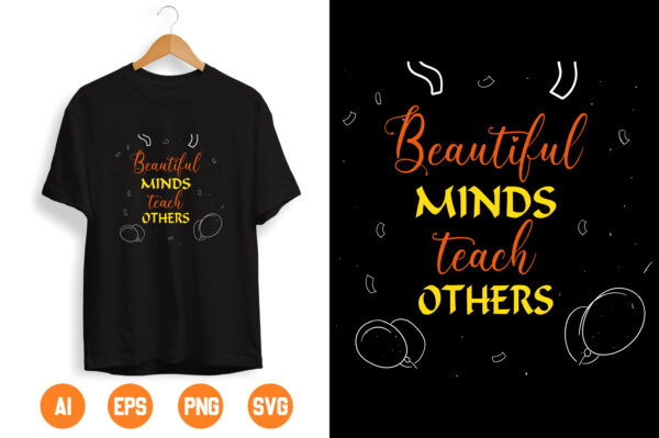 8 scaled Vectorency Beautiful minds To Teach others SVG PNG, Teacher Appreciation svg, Back To School svg, Digital Instant Download File for Cricut