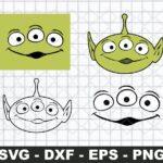 Alien face toy story Svg