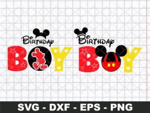Birthday Boy Svg, Mickey Svg