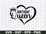 Birthday Queen Heart svg