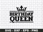 Birthday Queen SVG, Birthday Girl Svg Png
