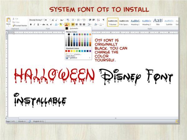 Bloody Disney 4 scaled Vectorency Halloween Bloody Dripping font otf, Halloween Dripping font svg, Halloween Bloody Dripping letters SVG file for cricut, Bloody Dripping font, Dripping font