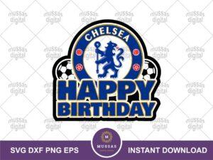 Chelsea Cake Topper PNG Happy Birthday Printable