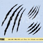 Claw Scratches Svg Scratches Dxf Scratch Marks Svg File for Cricut