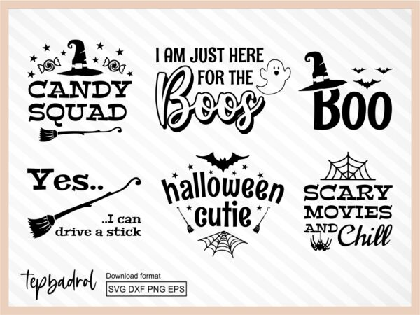 Cricut Craft Ideas Halloween SVG Bundle