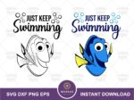 Dory Quote, Just Keep Swimming SVG Cut File