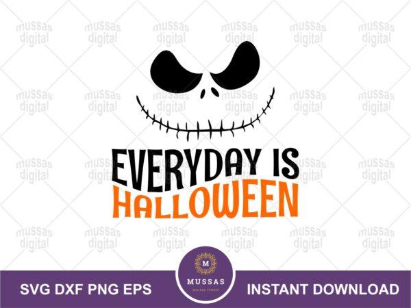 Everyday is Halloween SVG, Jack Quote
