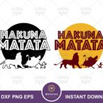 Hakuna Matata SVG, Lion King Quote SVG