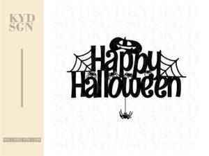 Happy Halloween Cake Topper Cut File Cricut SVG