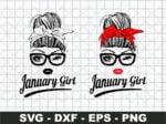 January Girl SVG, Girl With Bandana SVG