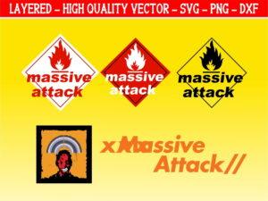 Massive Attack English rock band svg file