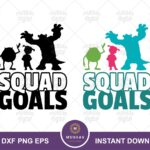 Mike, Sulley and Boo Squad Goals svg