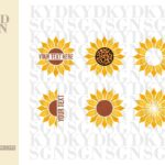 Monogram Sunflower SVG Bundle