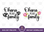 Ohana Means Family SVG, Lilo and Stitch Quote