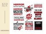 Quotes horror movie SVG Shirt Design Halloween Bundle