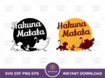 Simba, Timon and Pumbaa, Hakuna Matata svg