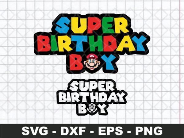 Super Mario Birthday Boy SVG