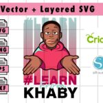 THUMBNAILVectorencykhaby Vectorency LEARN From KHABY SVG , PNG Files for cricut and silhouette machine