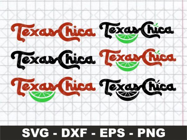 Texas Chica SVG Con Lima