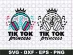 Tik Tok Princess Svg, Musical Birthday Girl Svg, Party Supply Svg