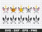 Unicorn Sports SVG Bundle, Unicorn Eyelashes SVG Cut File