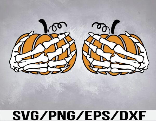 WTM 01 35 Vectorency Skeleton Hands Over Boobs SVG, PNG, DXF, EPS, File Digital Download Design Sublimation