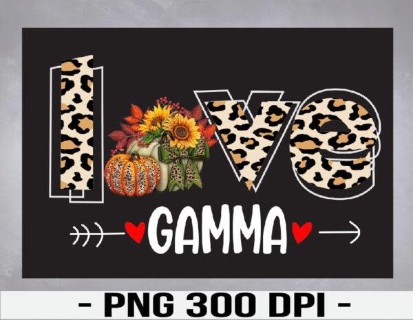 WTM 01 39 Vectorency Love Gamma Leopard Print Pumpkin Halloween Cute Grandma PNG