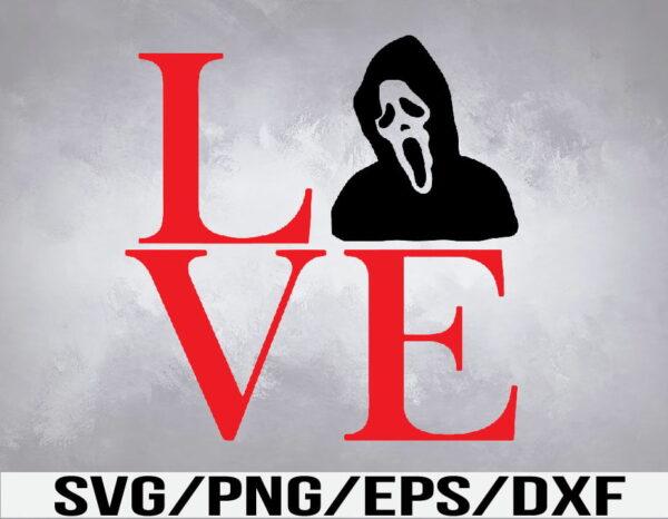 WTM 01 43 Vectorency Love Scream SVG, Scream SVG, Scary Movie SVG, Horror SVG, Halloween SVG, Spooky SVG